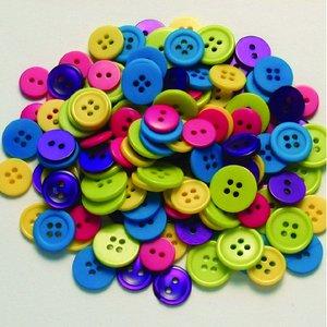 Knapp - flera färger 130 st. kul