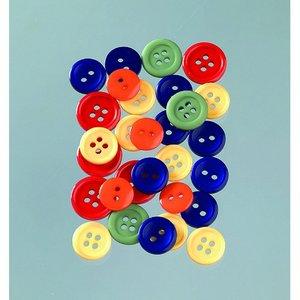Knappar 10 - 15 mm - flera färger pastell 40 g primär