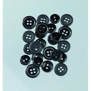 Knappar 10 - 15 mm - svart 40 g svart