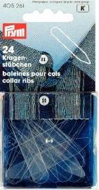 Kragstöd plast transparent 24 st