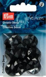 Kreativ Dekor fastsys 18 mm svart 14 st