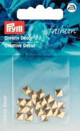 Kreativ Dekor fyrkantig påstrykes 5mm guldfärg 26 st