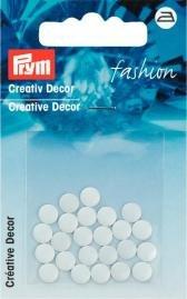 Kreativ Dekor rund påstrykes 6mm vit 24 st