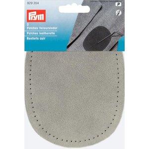 Laglapp läder fastsys grå 2 st