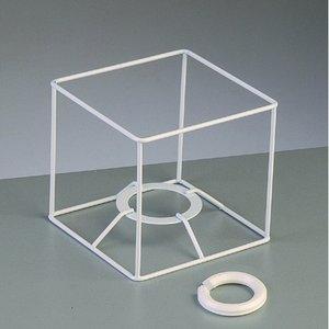 Lampstomme ram 10 cm / 10x10 cm - vit kvadrat