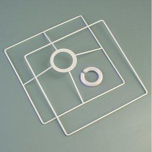 Lampstomme ring set 10x10 cm - vit 2 delar kvadratisk