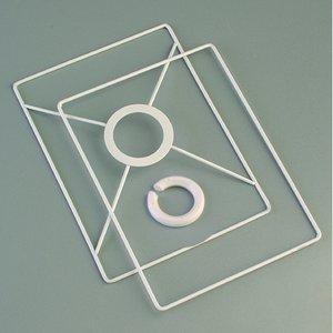 Lampstomme ring set 10x15 cm - vit 2 delar rektangulär