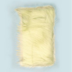 Långt hår plysch 20 x 35 cm - beige