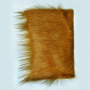Långt hår plysch 20 x 35 cm - brun