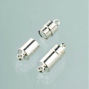 Magnetlås 20 mm - försilvrad 2 stycken uttag