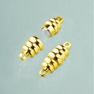 Magnetlås 20 mm - guldpläterad 2 st olivformade