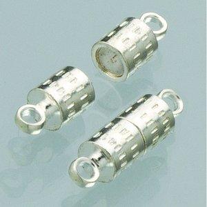 Magnetlås 8 mm - försilvrad 2 st cylinder