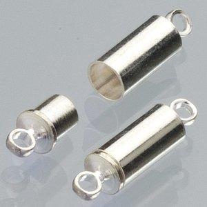 Magnetlås 8 mm - försilvrad 2 st uttag