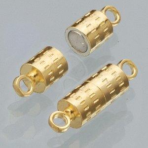 Magnetlås 8 mm - guldpläterad 2 st cylinder