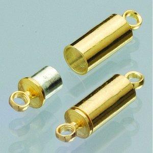 Magnetlås 8 mm - guldpläterad 2 st uttag