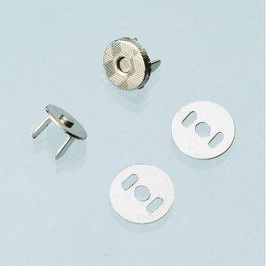 Magnetlås för väskor ø 10 mm - silverfärgad 2 st