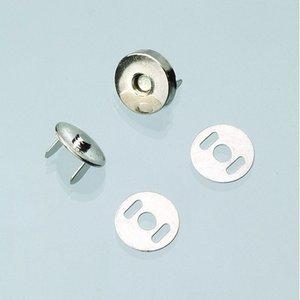 Magnetlås för väskor ø 15 mm - silverfärgad 2 st