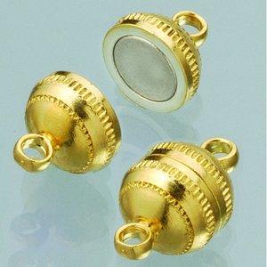 Magnetlås ø 8 mm - guldpläterad 2 st boll