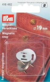 Magnetspänne 19mm ant. mässing 1 st