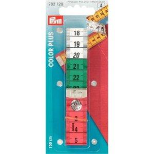 Måttband Color plus cm/cm med knapp 150 cm