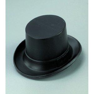 Miniatyr 20 mm - svart 3 st. Hög hatt