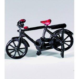 Miniatyr 50 x 30 mm - svart Cykel