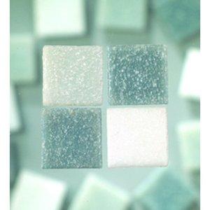 MosaixPro - glasmosaik 10 x 10 mm - grå mix 1.000 g ~ 1