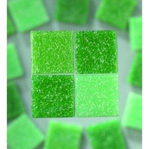 MosaixPro - glasmosaik 10 x 10 mm - grön mix 1.000 g ~ 1