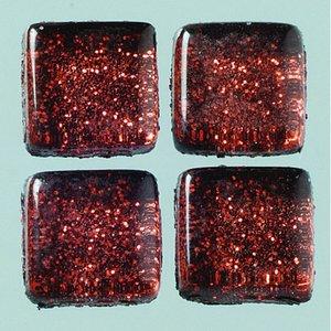 MosaixPro-glasmosaik Glitter 10 x 10 x - brun 200 g ~ 215 st.