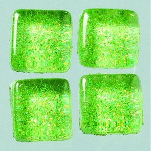 MosaixPro-glasmosaik Glitter 10 x 10 x - grön 200 g ~ 215 st.