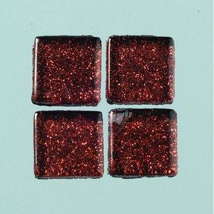 MosaixPro-glasmosaik Glitter 15 x 15 x - brun 200 g ~ 95 st.