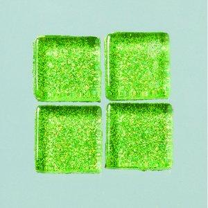 MosaixPro-glasmosaik Glitter 15 x 15 x - grön 200 g ~ 95 st.