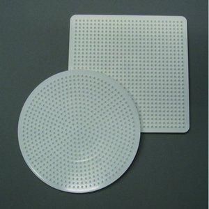 Nabbi pärlplatta 15 cm - vit 2 st. mix rund / fyrkantig
