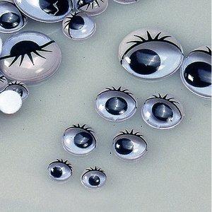Ögon rörlig pupill - med ögonlock
