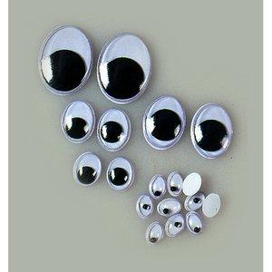 Ögon rörlig pupill - ovala