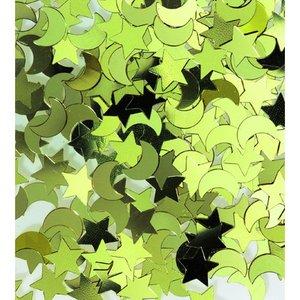 Paljetter 11 mm - guld 20 g månar / stjärnor