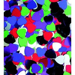 Paljetter 8 mm - blandade färger 20 g hjärtan