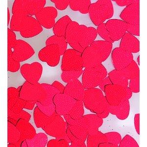 Paljetter 8 mm - röd 20 g hjärtan
