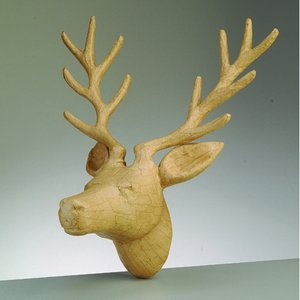 PappArt figur 39 x 31 x 25 cm - Hjorthuvud