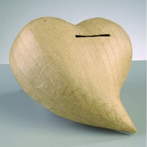 PappArt figur spargris 14 x 13 x 7 - Hjärta