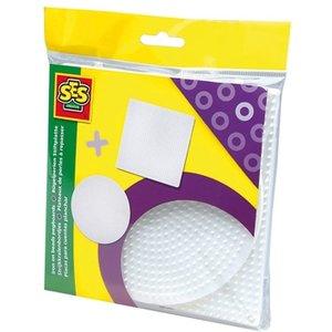 Pärlplatta x 2 - fyrkantig & rund