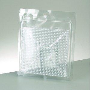 Photo Pearls® pärlplatta 15 x 15 cm - transparent 2 st. för 900 pärlor
