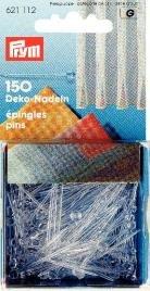 Plastnålar släta genomskinliga 1.00 mm 35 mm 150 st