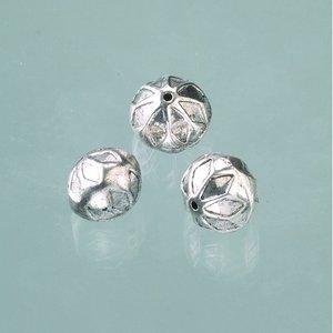 Plastpärlor 14 x 12 mm - åldrat silver 3 st.