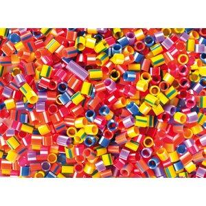 Plastpärlor randiga rör