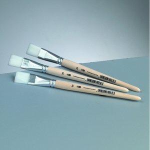Platt pensel syntetiskt hår Gr. 20 /