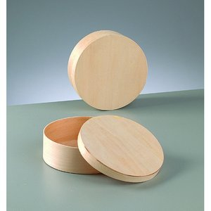 Plywoodask ø 145 mm H 50 mm - obehandlat rund