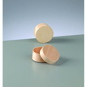 Plywoodask ø 55 mm H 30 mm - obehandlat rund
