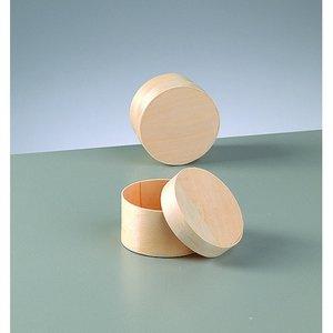 Plywoodask ø 65 mm H 40 mm - obehandlat rund