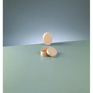 Plywoodask ø 75 x 55 mm H 30 mm - obehandlat oval